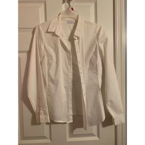 New York and Company plain white blouse